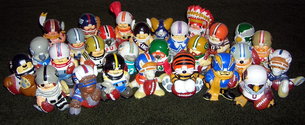 Image result for nfl huddles mascots